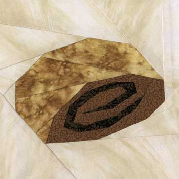 Rugelach Cookie Paper Pieced Quilt Block Pattern
