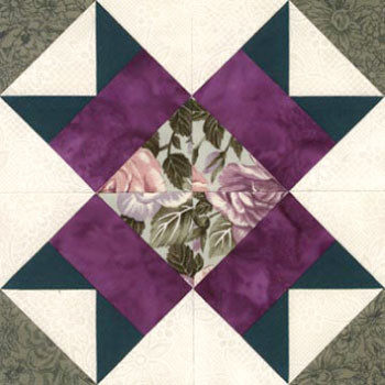 Aunt Nancy's Favorite Paper Pieced Quilt Block Pattern