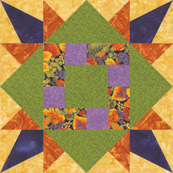 Autumn Puzzle Paper Pieced Quilt Block Pattern