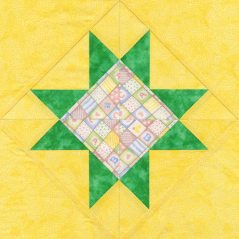 Baby's Star Paper Pieced Quilt Block Pattern