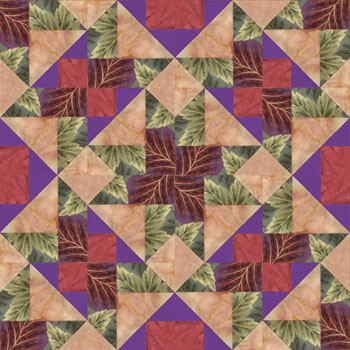 Chamber Music Da Capo Paper Pieced Quilt Block Pattern