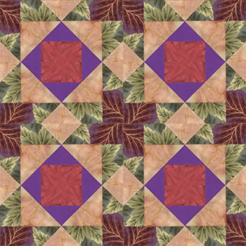 Chamber Music Gavotte Paper Pieced Quilt Block Pattern