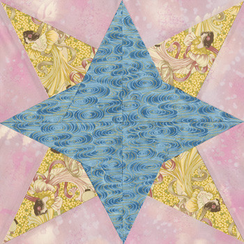 Chic Star Paper Pieced Quilt Block Pattern