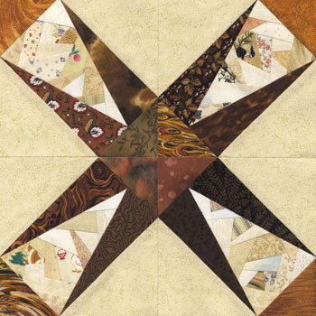 Crazy Big Bang Paper Pieced Quilt Block Pattern