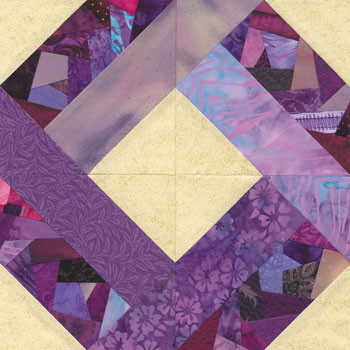 Crazy Garden Maze Paper Pieced Quilt Block Pattern