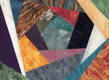 Crazy Quilt 2 Paper Pieced Quilt Block Pattern