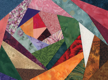 Crazy Quilt 4 Paper Pieced Quilt Block Pattern