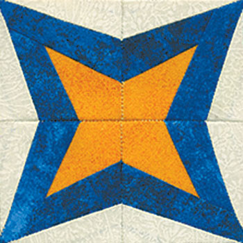 Exploding Star Paper Pieced Quilt Block Pattern