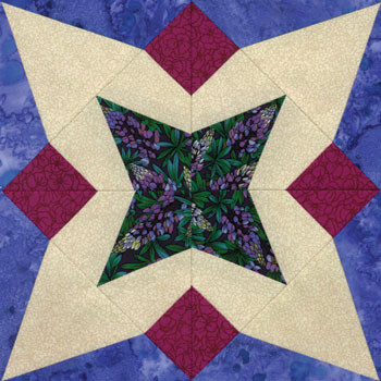 Five Patch Paper Pieced Quilt Block Pattern