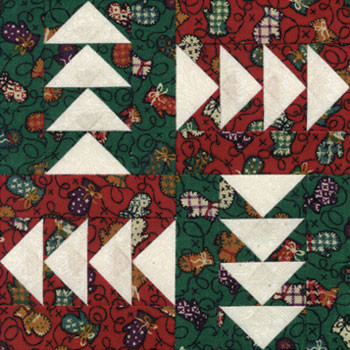 Flying Geese Paper Pieced Quilt Block Pattern