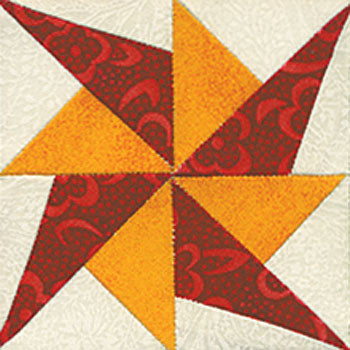 Prickly Pinwheel Paper Pieced Quilt Block Pattern