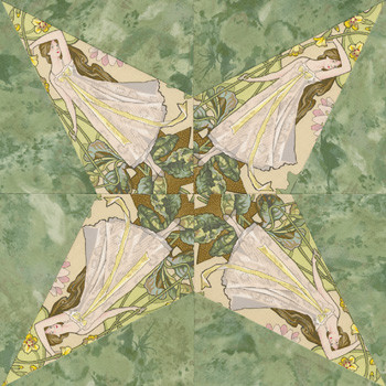 Princess Star Paper Pieced Quilt Block Pattern