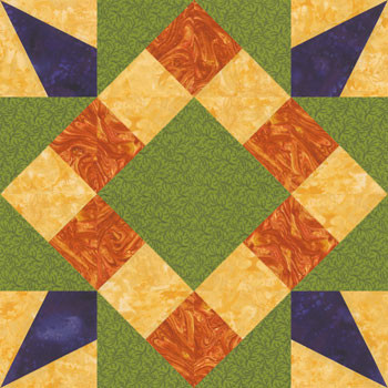 Saint Alexis' Star Paper Pieced Quilt Block Pattern