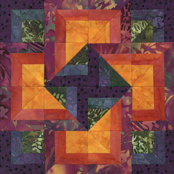 Skyrise Card Trick Paper Pieced Quilt Block Pattern