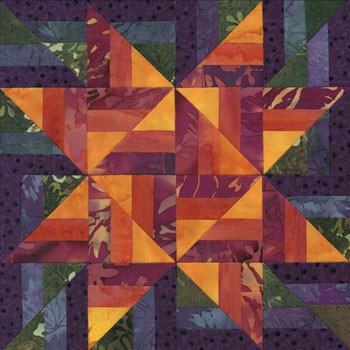 Skyrise Woven Star Paper Pieced Quilt Block Pattern