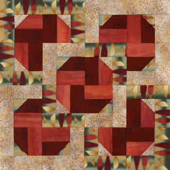 Square Dance Wheel Around Paper Pieced Quilt Block Pattern