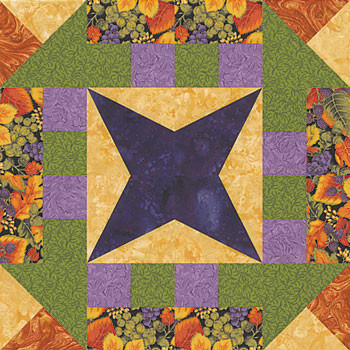 Star Dash Paper Pieced Quilt Block Pattern