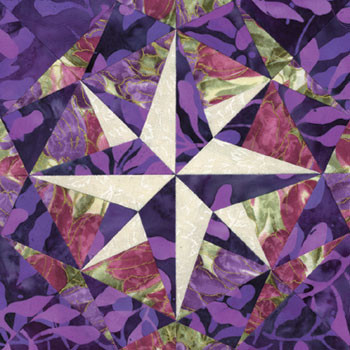 Western Spy Paper Pieced Quilt Block Pattern