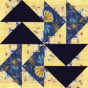 Winding Roads Flying Geese Paper Pieced Quilt Block Pattern