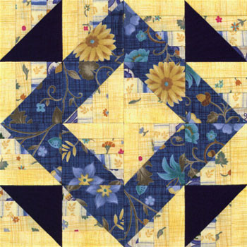 Winding Roads Mosaic Paper Pieced Quilt Block Pattern