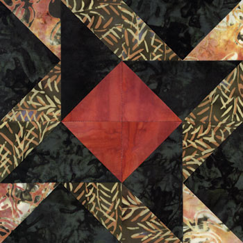 Winged Square Quilt Paper Pieced Block Pattern