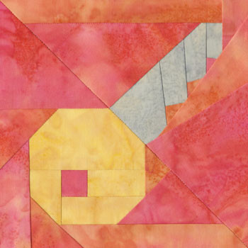 Baby's Key Paper Pieced Quilt Block Pattern
