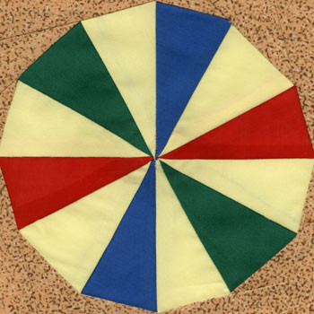 Beach Ball Paper Pieced Quilt Block Pattern