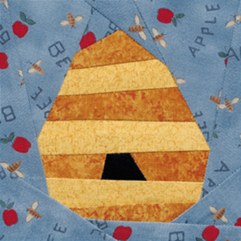 Beehive Paper Pieced Quilt Block Pattern