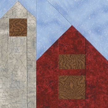 Bird Barn Paper Pieced Quilt Block Pattern