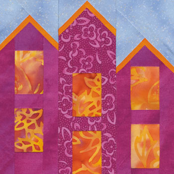 Bird Castle Paper Pieced Quilt Block Pattern