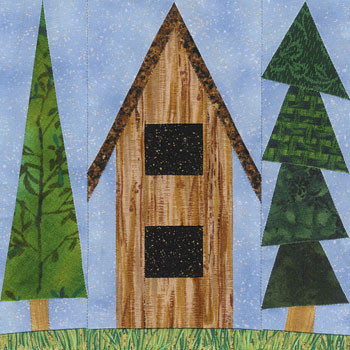 Bird Chalet Paper Pieced Quilt Block Pattern