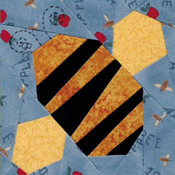 Bumble Bee Paper Pieced Quilt Block Pattern