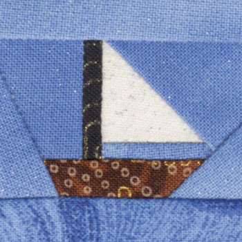Catboat Sailboat Paper Pieced Quilt Block Pattern