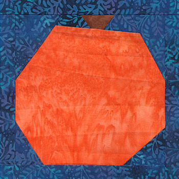 Cinderella Pumpkin Paper Pieced Quilt Block Pattern