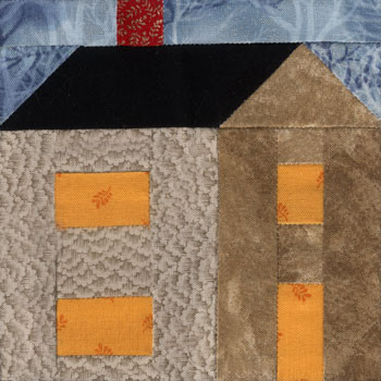 Country House Paper Pieced Quilt Block Pattern