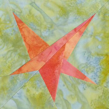 Crazy Star Paper Pieced Quilt Block Pattern