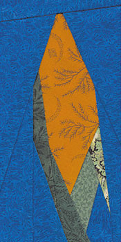 Ear of Corn Paper Pieced Quilt Block Pattern