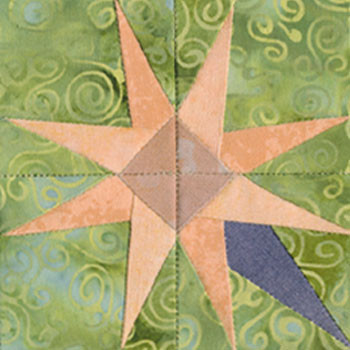 Easter Lily Paper Pieced Quilt Block Pattern