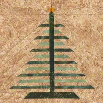 Feather Tree Paper Pieced Quilt Block Pattern