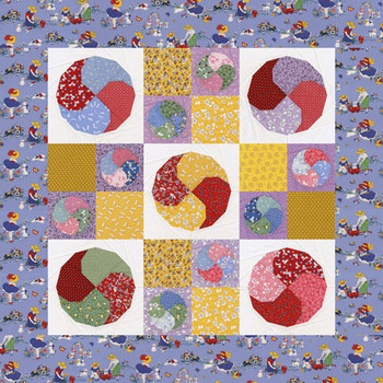 Spinning Circles Paper Pieced Quilt Pattern