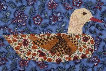Folk Art Duck Paper Pieced Quilt Pattern