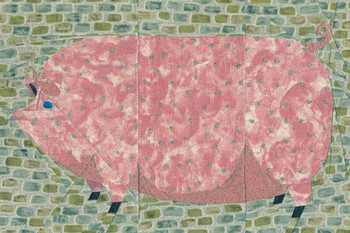 Folk Art Pig Paper Pieced Quilt Pattern