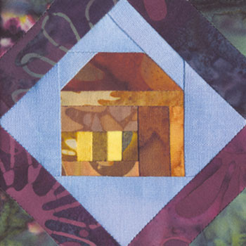 Framed House Paper Pieced Quilt Block Pattern