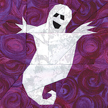 Ghost Paper Pieced Quilt Block Pattern