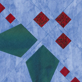 Holly Corner Paper Pieced Quilt Block Pattern