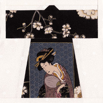 Japanese Haori Paper Pieced Quilt Block Pattern