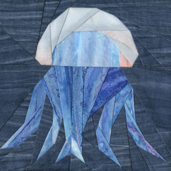 Jellyfish Paper Pieced Quilt Block Pattern