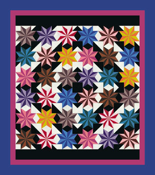 Le Moyne Starscape Paper Pieced Quilt Pattern