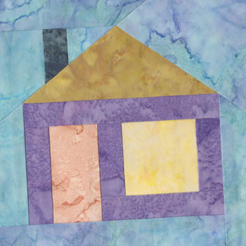 Little House Paper Pieced Quilt Block Pattern