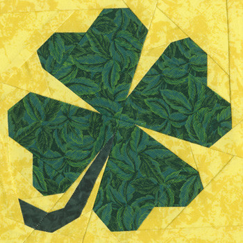 March Shamrock Paper Pieced Quilt Block Pattern